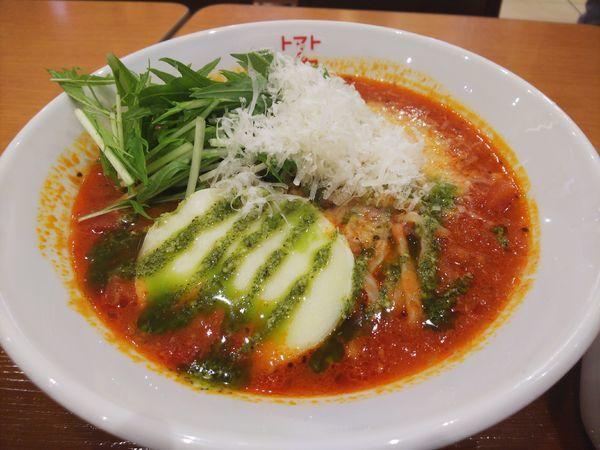 「濃厚トマトスープ麺 (無料)麺大盛」@トマトの花 イオンモール日の出店の写真