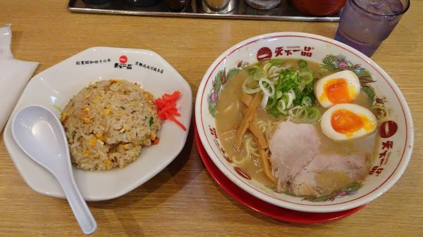 「チャーハン定食(968円)+味付煮卵(104円)」@天下一品 総本店の写真
