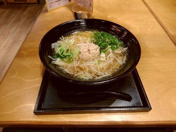 「鶏ラーメン(並盛・210g)756円」@からあげセンター 高崎オーパ店の写真