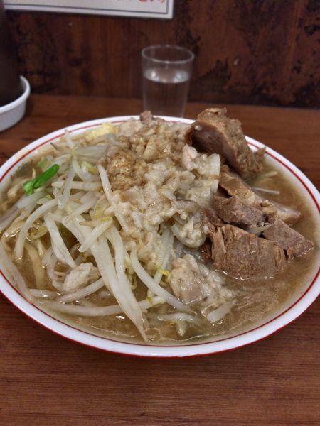 「95 小豚 ニンニクアブラカラメ」@ラーメン二郎 品川店の写真