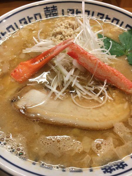 「【1月限定】カニ味噌ラーメン¥850」@中華そば ムタヒロ 大阪福島店の写真