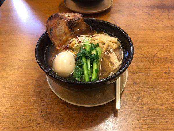 「味玉そば  醤油  (860えん)」@麺屋 空海 海浜幕張店の写真