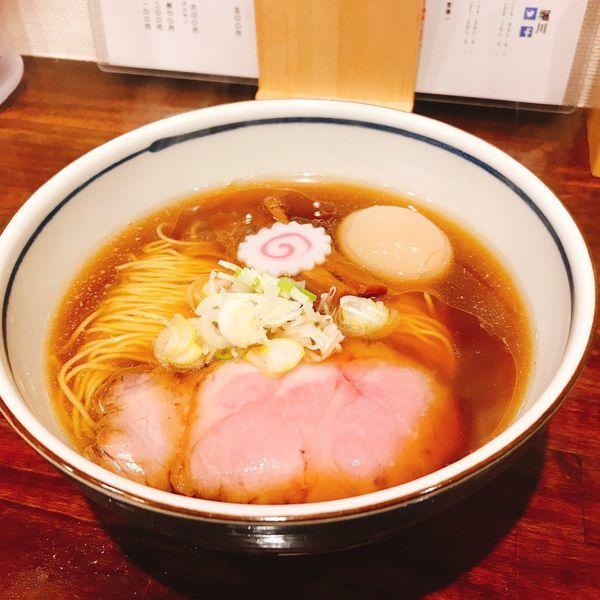 「醤油そば(並)+味付けたまご」@中華そば 堀川の写真