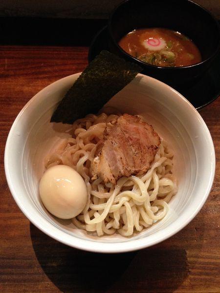 「濃厚つけそば 780円  味玉(ラーパス)」@麺屋 ざくろの写真