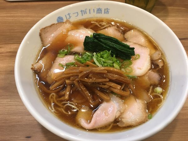 「期間限定 佐助豚の生姜醤油焼豚麺」@はつがい商店の写真