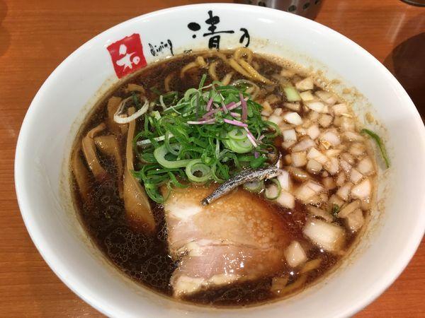 「近鉄百貨店限定 煮干しブラック」@清乃 近鉄店の写真