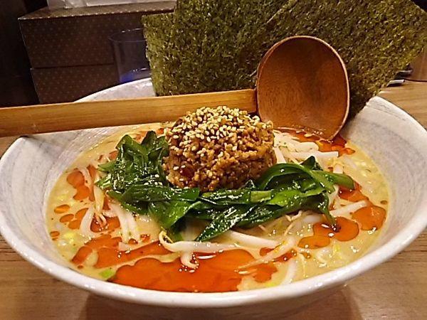 「担々麺白ごま3辛、海苔」@らーめん YuToRiの写真