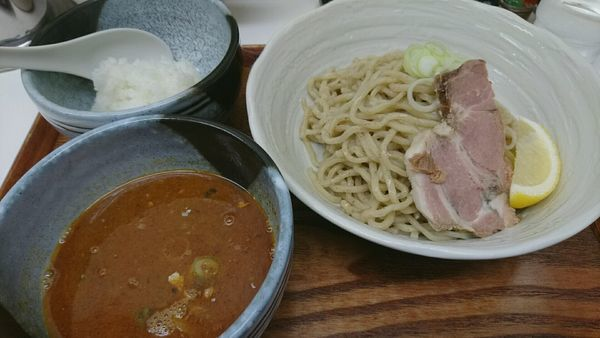 「つけ麺(並)750円」@忍八の写真