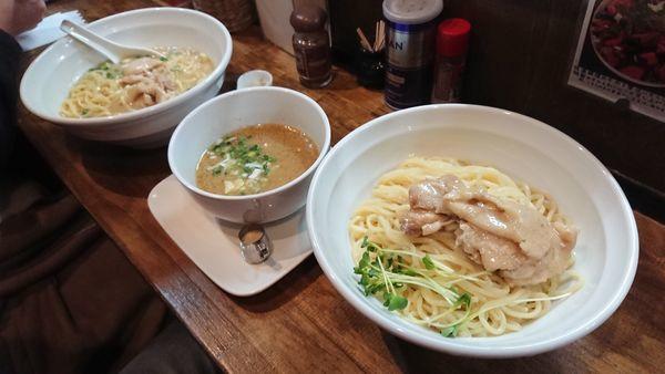 「鶏エスプレッソ つけ麺」@麺屋33の写真