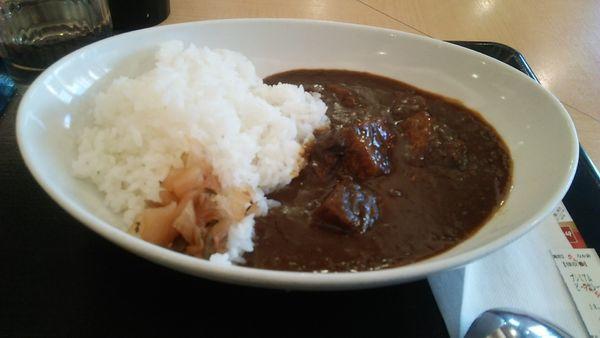 「プレミアムビーフカレー 690円」@なか卯 須田町店の写真