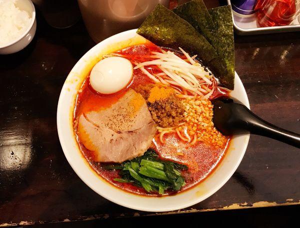 「特製担々麺大盛(激辛)」@ほうきぼし+の写真