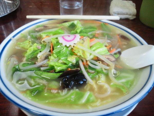 「しいたけタンメン 660円」@まるた食堂の写真