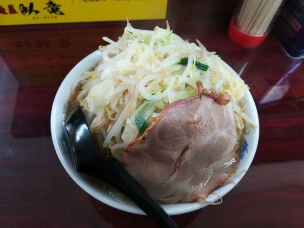 「2/3ラーメン中+野菜増し+ニンニクあり700円」@麺屋 臥竜の写真