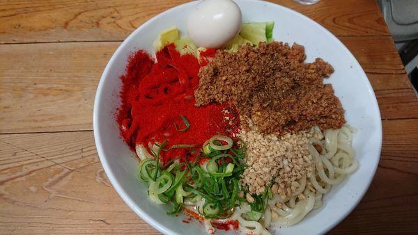 「汁なし担々麺大盛(900円)味玉(100円)」@自家製麺 てんかの写真