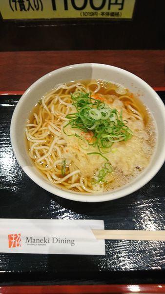 「天ぷらそば大盛」@えきそば 姫路駅店の写真