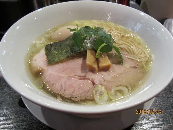 「味玉塩ラーメン750円」@麺処みどりの写真