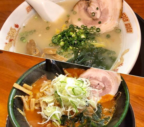 「函館塩ラーメン(味薄め)¥700/鉄火麺¥900」@味源 小平店の写真