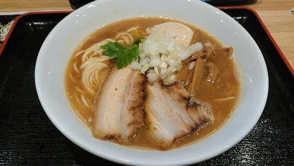「味玉ラーメン+和え麺」@麺屋 睡蓮の写真