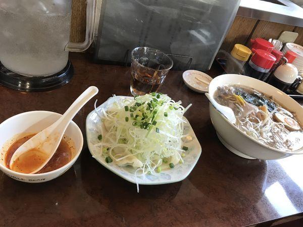 「きのこラーメン&水餃子」@青竹手打ちラーメン 桐生宿の写真