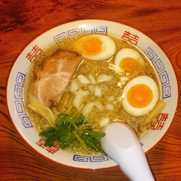 「背脂煮干しそば 780円+味玉」@らぁめん 赤星の写真