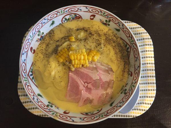 「とうもろこしラーメン」@松屋製麺所の写真