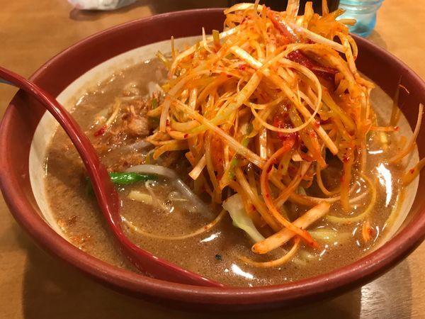 「伊勢味噌 肉ネギらーめん」@みそ屋 田所商店 WBG店の写真