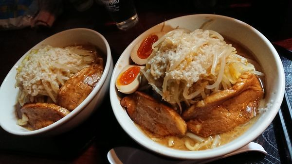 「スペシャル味噌+味玉」@自然洞 麺舗の写真