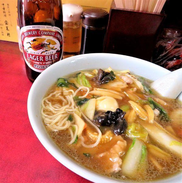 「広東麺(850円)+キリンラガー」@宝来軒の写真