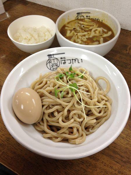 「焦がしチーズのカレーつけ麺(追い飯)850円」@麺処 はつがいの写真