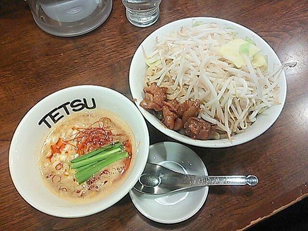 「【2月限定】スタミナ豚もつ味噌つけめん」@つけめんTETSU 渋谷店の写真