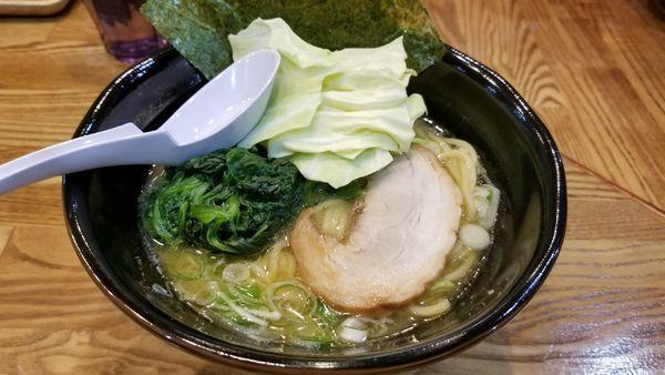 「豚骨塩」@らあめん 万咲 松本店の写真