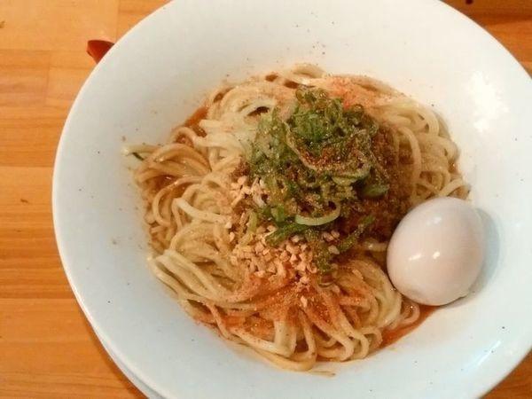 「汁なし担担麺+味玉」@麺庵ちとせの写真