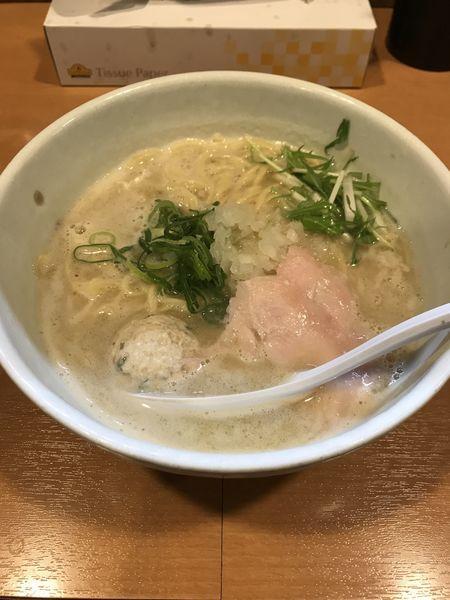 「鶏SOBA塩」@らーめん 銀杏 亀有店の写真