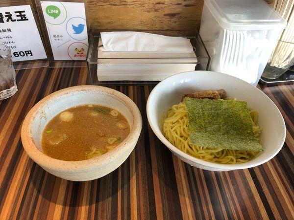「つけ麺  (中)  770円」@狼煙屋の写真