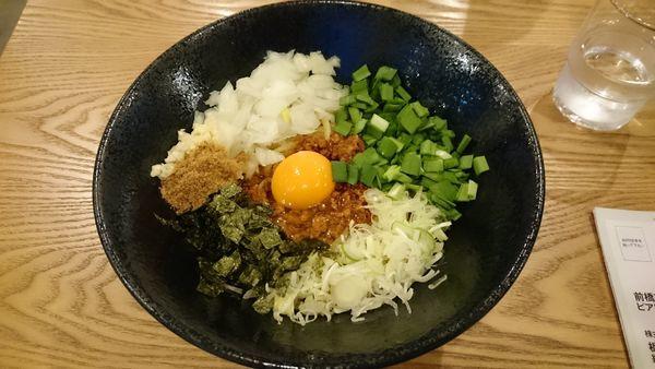 「台湾まぜそば780円」@益子町 まー麺の写真