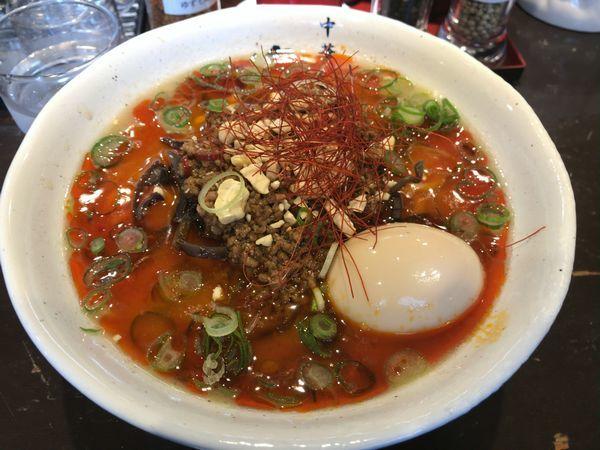 「ツンデレ坦々麺+味玉」@中華そば 葵の写真