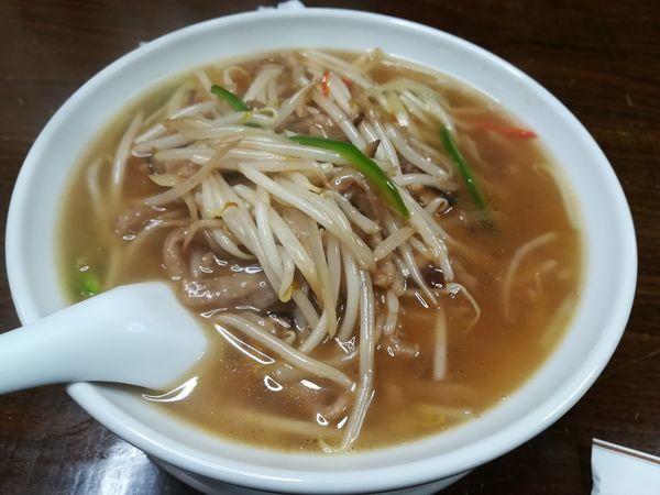 「3/5豚肉細切り入り汁そば780円」@中国料理 壱龍釜の写真