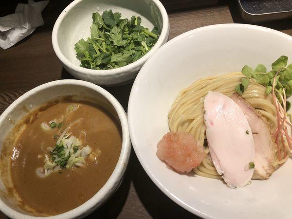 「海老味噌つけ麺+チーズリゾット+パクチー」@つけ麺 一燈の写真