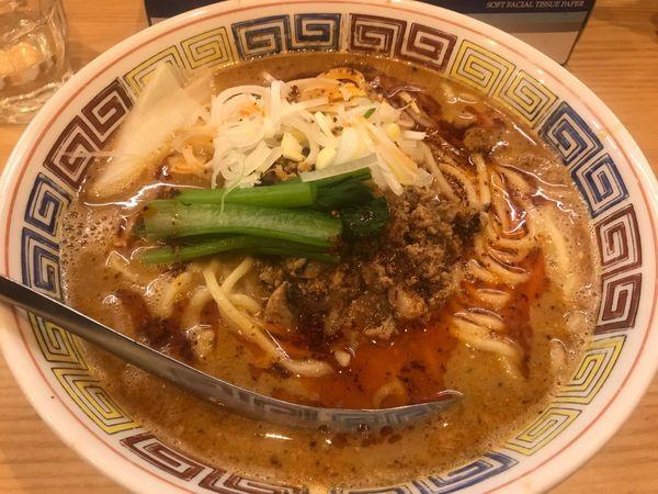 「担々麺 辛め」@ほっこり中華そば もつけの写真