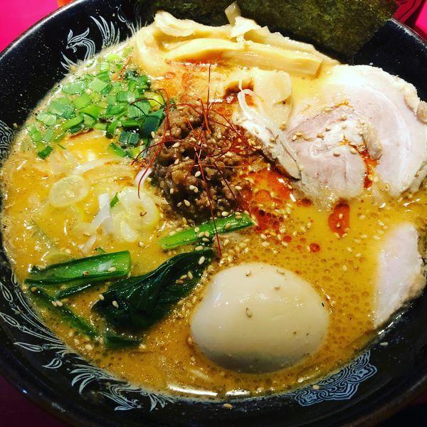 「濃厚豚骨坦々麺 + 特製」@らーめん・つけめん こてんぱんの写真