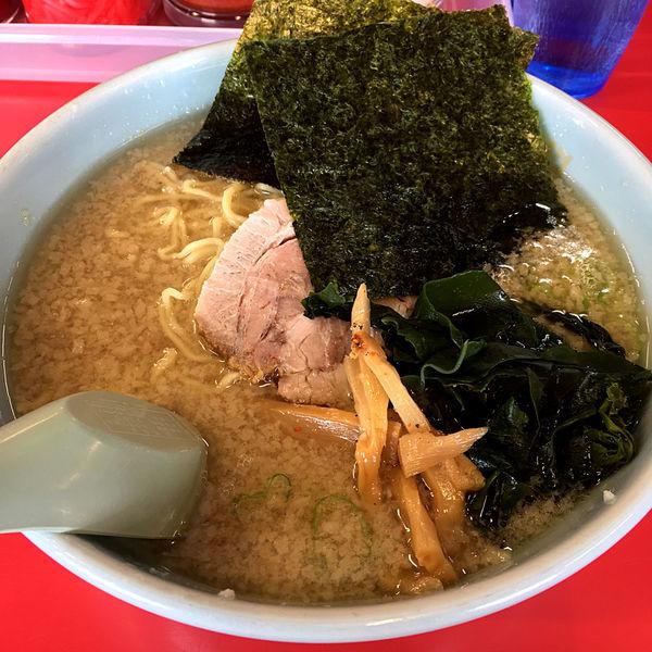 「ラーメン(麺固め・コッテリ)600円」@ラーメンショップ 薮塚店の写真