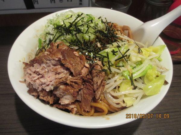 「油そば太麺(二玉)ネギ増し ¥750」@あまみ屋の写真