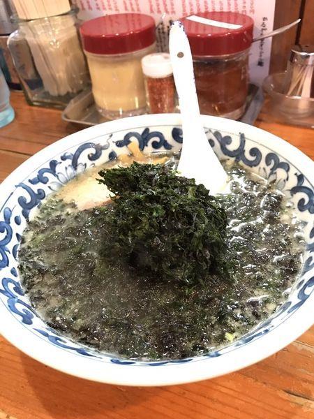 「岩海苔ラーメン」@がんこや かるがんラーメン つくば店の写真
