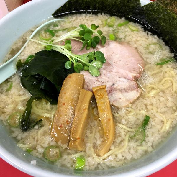 「ラーメン(麺固め・コッテリ)630円」@ラーメンショップ 卒島店の写真