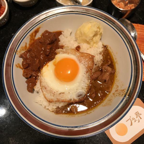 「ポテトサラダ卵付(ラムカレー&ポークカレー)」@ブラン亭の写真