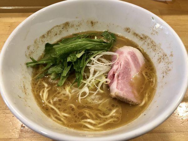 「サバ白湯」@ふく流らーめん 轍 本町本店の写真
