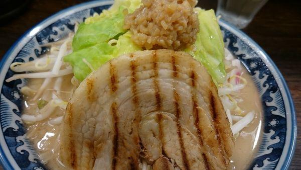 「ドカ盛り野菜ラーメン」@麺屋 武士道 都立大学店の写真