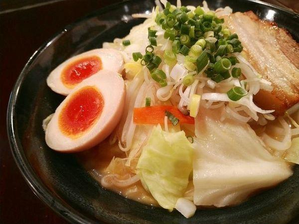 「野菜たっぷりタンメン+味玉」@らーめんなが田の写真