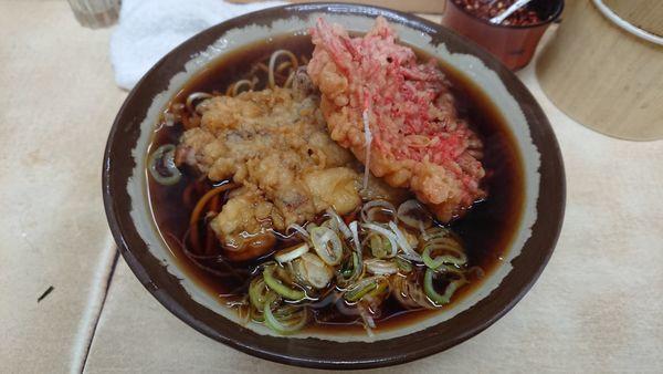 「げそと生姜のそば大盛」@岩本町スタンドそばの写真