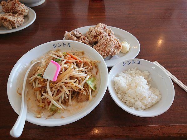 「濃厚たんめん 唐揚げセット」@極濃湯麵シントミの写真